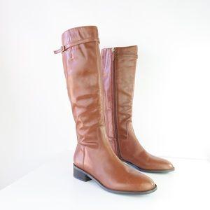 Franco Sarto Barbara Tall Leather Boot in Scotch